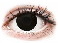 Lenti a contatto colorate speciali - non correttive - ColourVUE Crazy Lens - BlackOut - non correttive (2 lenti)
