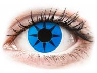 Lenti a contatto colorate speciali - non correttive - ColourVUE Crazy Lens - Blue Star - non correttive (2 lenti)