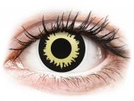 Lenti a contatto gialle - non correttive - ColourVUE Crazy Lens - Eclipse - non correttive (2 lenti)