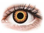 Lenti a contatto gialle - non correttive - ColourVUE Crazy Lens - Orange Werewolf - non correttive (2 lenti)