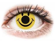 Lenti a contatto gialle - non correttive - ColourVUE Crazy Lens - Smiley - non correttive (2 lenti)