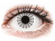 Lenti a contatto bianche - non correttive - ColourVUE Crazy Lens - Spider - non correttive (2 lenti)