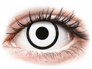 Lenti a contatto bianche - non correttive - ColourVUE Crazy Lens - White Zombie - non correttive (2 lenti)