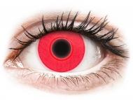Lenti a contatto rosse - non correttive - ColourVUE Crazy Glow Red - non correttive (2lenti)