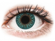Lenti a contatto verdi - correttive - TopVue Color - Turquoise - correttive (2 lenti)