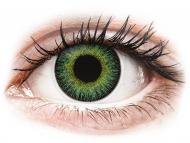Lenti a contatto gialle - non correttive - ColourVUE Fusion Green Yellow - non correttive (2lenti)
