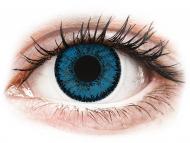 Lenti a contatto blu - non correttive - SofLens Natural Colors Topaz - non correttive (2 lenti)