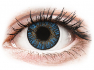 Lenti a contatto blu - correttive - FreshLook ColorBlends True Sapphire - correttive (2 lenti)