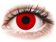 Lenti a contatto rosse - non correttive - ColourVUE Crazy Lens - Red Devil - giornaliere non correttive (2 lenti)