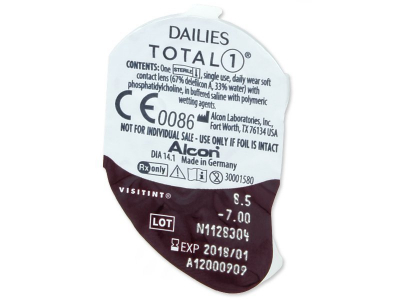 Blister della lente - Dailies TOTAL1 (90lenti)