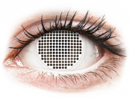 Lenti a contatto bianche - non correttive - ColourVUE Crazy Lens - White Screen - non correttive (2lenti)