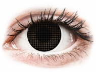 Lenti a contatto nere - non correttive - ColourVUE Crazy Lens - Black Screen - non correttive (2lenti)