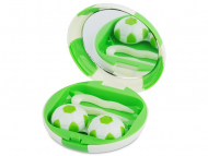 Accessori per lenti a contatto - Astuccio con specchietto Football Green