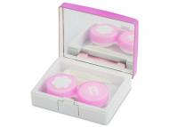 Accessori per lenti a contatto - Astuccio con specchietto Elegant Pink