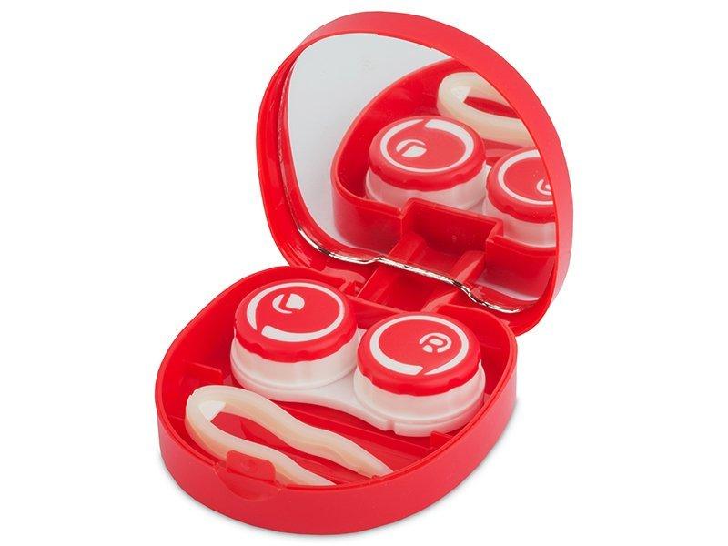 Astuccio con specchietto Smile Red  - Astuccio con specchietto Smile Red