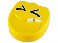 Accessori per lenti a contatto - Astuccio con specchietto Smile - yellow