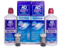 Soluzione AO SEPT PLUS HydraGlyde 2x360 ml  - Economy duo pack - solution