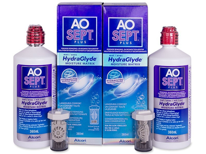 Economy duo pack - solution - Soluzione AO SEPT PLUS HydraGlyde 2x360 ml