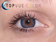 TopVue Color - correttive (2 lenti) - True Sapphire on brown eye