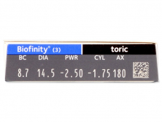Biofinity Toric (3lenti) - Caratteristiche generali