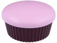 Accessori per lenti a contatto - Astuccio con specchietto Muffin - Rosa