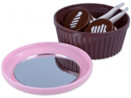 Custodie e Astucci - Astuccio con specchietto Muffin - Rosa