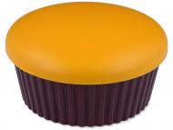 Accessori per lenti a contatto - Astuccio con specchietto Muffin - Arancio