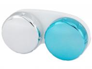 Custodie e Astucci - Astuccio porta lenti metallizzato - azzurro