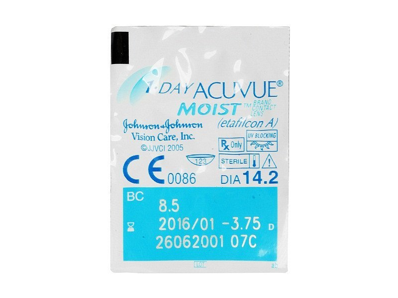 1 Day Acuvue Moist (30lenti) - Blister della lente