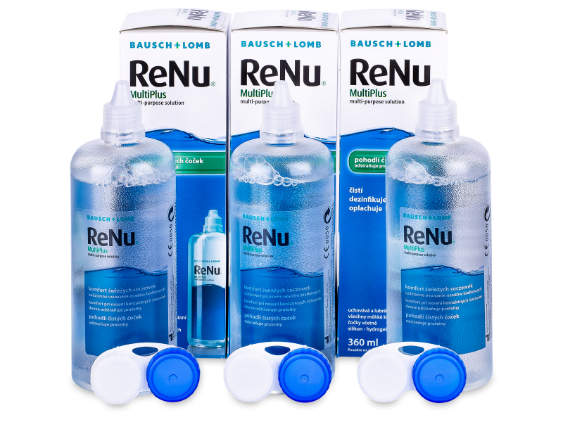 Soluzione ReNu MultiPlus 3 x 360 ml  - Economy 3-pack - solution