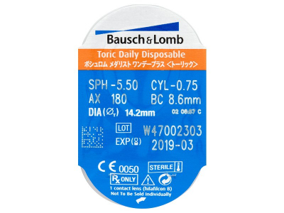 Blister della lente - SofLens Daily Disposable Toric (30lenti)
